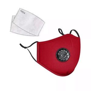 Accessories - Red Washable Cotton Face Cover + 2 Filters